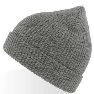 ABM Strick Wollmütze Unisex Winter Herbst Look Beanie Woolly Grau Melange