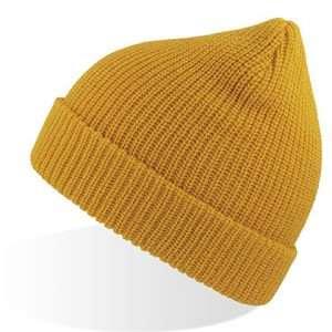 ABM Strick Wollmütze Unisex Winter Herbst Look Beanie Woolly Yellow