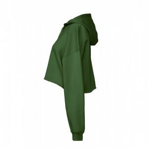 Cropped Fleece Damenhoodie ABM Solutions GmbH Cropped Woman Fleecehoodie Khaki