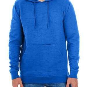 Cropped Fleece Damenhoodie ABM Solutions GmbH Herren Hoodie Fleece Man Fleecehoodie Blau Melange