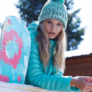 ABM Strick Bommelmütze - One Size Winter Mehrfarbig Mütze Bommel Strick