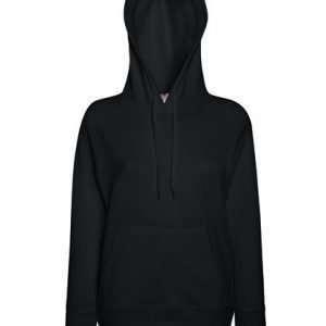 leichter Damenhoodie ABM Solutions GmbH Fleece OEKO-TEX WRAP Trockner geeignet Pullover Design Style Black Schwarz