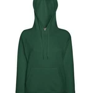 leichter Damenhoodie ABM Solutions GmbH Fleece OEKO-TEX WRAP Trockner geeignet Pullover Design Style Bottle Green