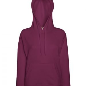 leichter Damenhoodie ABM Solutions GmbH Fleece OEKO-TEX WRAP Trockner geeignet Pullover Design Style Burgundy