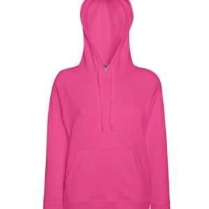 leichter Damenhoodie ABM Solutions GmbH Fleece OEKO-TEX WRAP Trockner geeignet Pullover Design Style Fuchsia