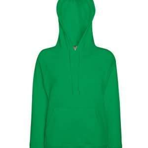 leichter Damenhoodie ABM Solutions GmbH Fleece OEKO-TEX WRAP Trockner geeignet Pullover Design Style Green