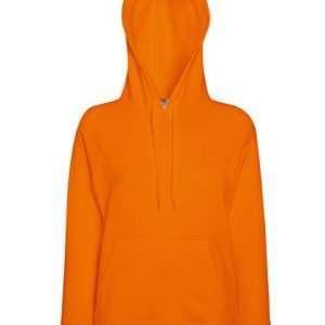 leichter Damenhoodie ABM Solutions GmbH Fleece OEKO-TEX WRAP Trockner geeignet Pullover Design Style Orange