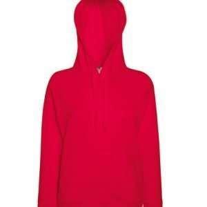 leichter Damenhoodie ABM Solutions GmbH Fleece OEKO-TEX WRAP Trockner geeignet Pullover Design Style Rot