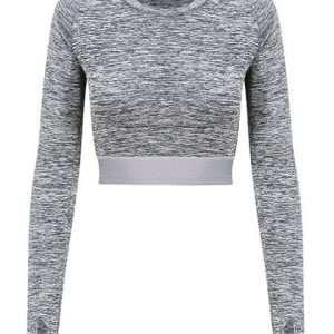 ABM Solutions GmbH Long Sleeve Sport Crop Top Fitness Sport Gym Damen Woman
