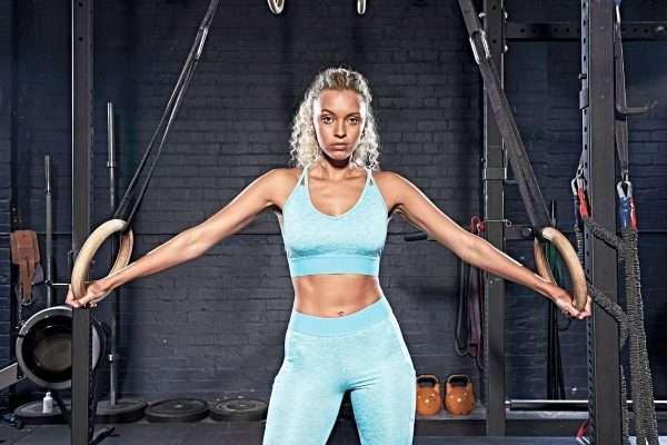 Cross Back Crop Top Fitness Gym Sport Damen Lady Woman Girl Bra