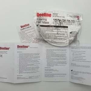 Deefine FFP2 NR Masken Schutz Non Medical Masken 50 Stück 25 Stück Box Schachtel Verpackt Tütchen Blister Schutz
